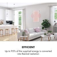 Wonderwall 60 Infrared Heater 60x100cm 600W Weekly Timer IP24 White
