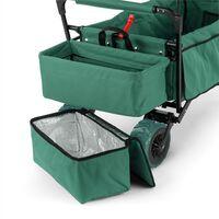 The Green Supreme Hand Cart Hand Wagon 68 kg Sun Awning