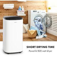 Zap Dry Clothes Dryer 820W 50l Touch Panel LED White / Black
