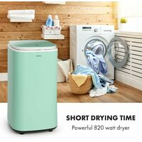 Zap Dry Clothes Dryer 820W 50l Touch Panel LED Display Green
