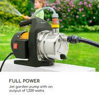 Greengarden 1200 Jet Garden Pump 1,200 Watts 3,500 l / h Max. Black