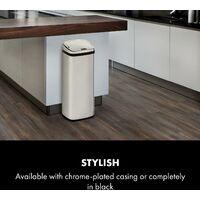 Cleansmann Waste Bin Sensor 50 Litres for Bin Bags ABS Chrome-Plated