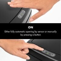 Cleansmann Waste Bin Sensor 50 Litres for Bin Bags ABS Black