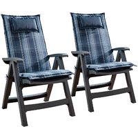 Donau, Upholstery, Armchair Cushion, High-Back Garden Chair, Polyester, 50x120x6cm