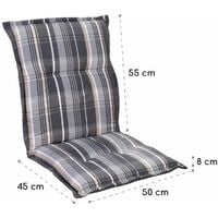Prato, Upholstery, Armchair Cushion, Low-Back Garden Chair, Polyester, 50x100x8cm