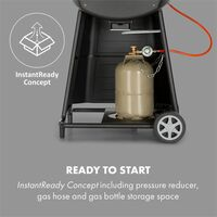 Vanquish Gas Grill 3 Stainless Steel Burners (3x3 kW) 63.5 x 45 cm Grill Area
