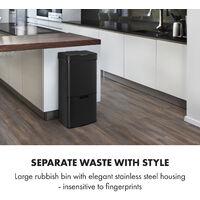 Royal Trash Matte Black Sensor Garbage Can 72 L stainless steel black