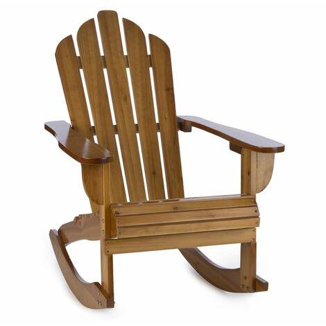 Rushmore Chaise à bascule style adirondack 71 x 95 x 105 - marron