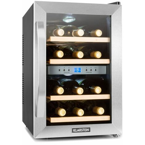 Reserva 12 Duo Réfrigérateur à vin deux zones 34 litres 12 bouteilles acier inoxydable