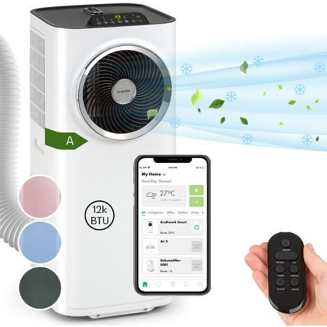 Kraftwerk Smart 12K climatiseur mobile 12000 BTU/3,5 kW blanc