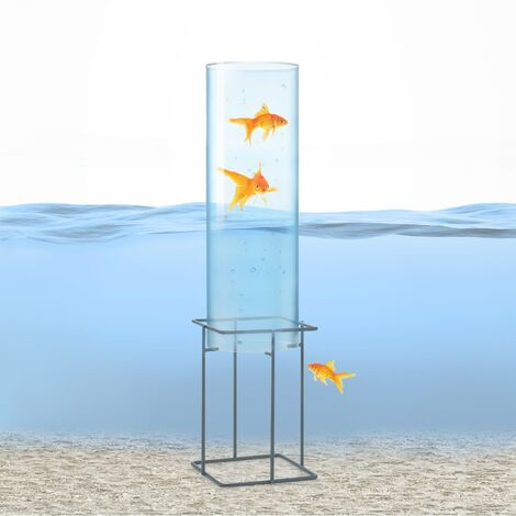 Skydive 60 tour à poissons 60 cm Ø 20 cm acrylique métal transparent