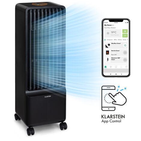 Maxflox Smart 3-in1 Rafraîchisseur d'air Ventilateur Humidificateur 5L WiFi Télécommande 2x pack de glace