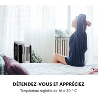 New Breeze 9 Climatiseur mobile 9000 BTU Classe énergétique A télécommande noir