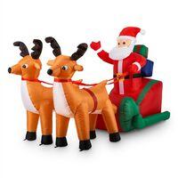 X-Mas X-Press Décoration de Noël gonflable traineau 240cm LED