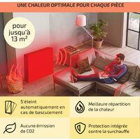 Wallander Radiateur à bain d'huile 1000W thermostat Chauffage ultra plat - noir
