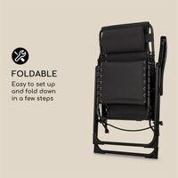 California Dreaming Chaise de jardin transat pliant cadre acier noir