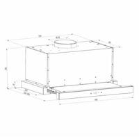 Vinea Hotte murale escamotable plate 60cm 610m³/h classe A - noir