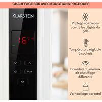 Thermaxx 2500 Radiateur à bain d'huile 2500W 5-35°C - noir & blanc