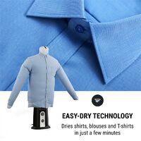 ShirtButler Séchoir automatique à chemises 850w 2-en-1 > 65 ° C
