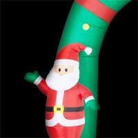 Merry Welcome Décoration de Noël gonflable porte 250cm LED