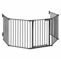 Grillage de protection pour cheminée barrière 3m métal - noir