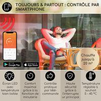 Smartwave chauffage infrarouge, 2400W, WiFi, commande via app, noir