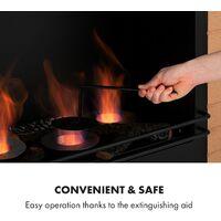 Phantasma Brickline cheminée à l'éthanol 3,4 kW MDF aspect brique