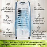 Maxfresh Ocean ventilateur rafraîchisseur d'air 6L 65W télécommande 2x pack de glace