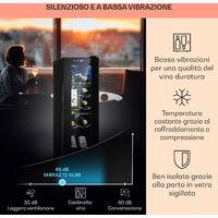 Shiraz 12 Slim cantinetta frigo per vino 32l/12 bottiglie pannello di comando touch 85W 5-18°C