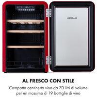 Vinetage 19 Uno, frigorifero per bevande, 70 litri, 4-22°C, design retrò