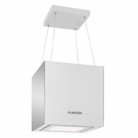 Klarstein Kronleuchter Campana extractora Campana de techo LED Vidrio espejada blanca