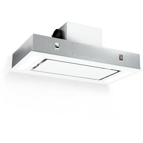 Klarstein Remy Campana extractora de techo 90 cm 620 m3/h 230W 3 niveles Mando a distancia Blanco