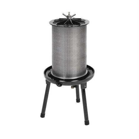 Fruit Punch 40 exprimidor hidráulico 40L 3Bar incluye tela filtrante acero inoxidable negro