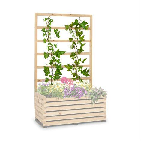 blumfeldt Modu Grow 100 UP Enrejado de jardín para plantas enredaderas 151 x 100 x 3 cm color pino