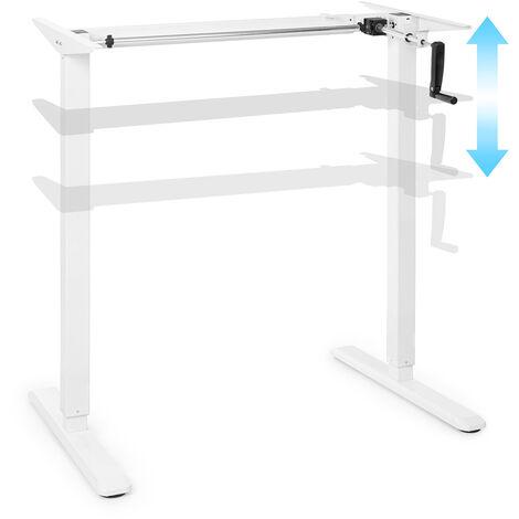 OneConcept Multidesk escritorio de altura regulable manual 73-123 cm de altura blanco