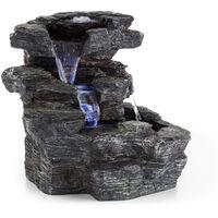 Rochester Falls Fuente de jardín IPX8 6 W Poliresina 3 LEDs Aspecto de piedra