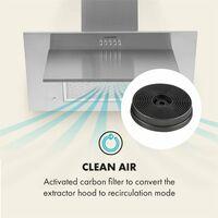 Filtros de carbón activo para campana extractora 2 filtros Circulación de aire Ø10,5 cm