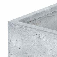 Solidflor Cubo para plantas Maceta 79,5x38x38 cm gris claro