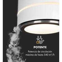 Tron Ambience campana extractora en isla Ø38 cm recirculación 540 m³/h LED blanca