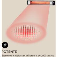 Dark Wave Estufa por infrarrojos 2000W IP65 Aluminio Plateada