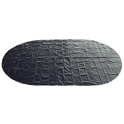Abdeckplane 200g/m² blau/schwarz für 4,70-4,90 x 3,00 m Oval-/Achtform Pool