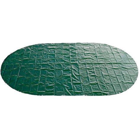 Abdeckplane 180g/m² grün/schwarz für 5,30 x 3,20 - 5,40 x 3,50 m Oval-/Achtform Pool