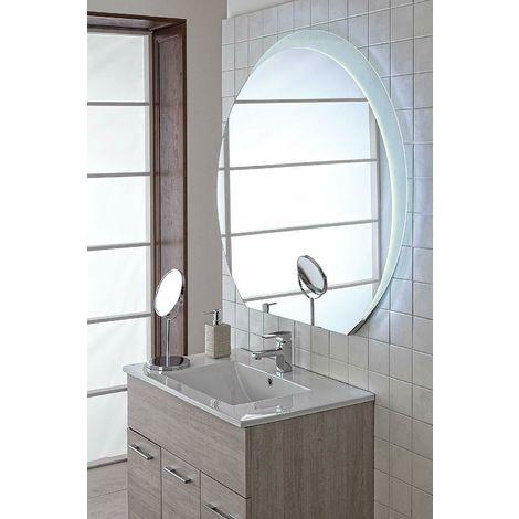 Specchio Bagno 80.Specchio Bagno Led Retroilluminato Reversibile Satinato 80x75 18w Feridras