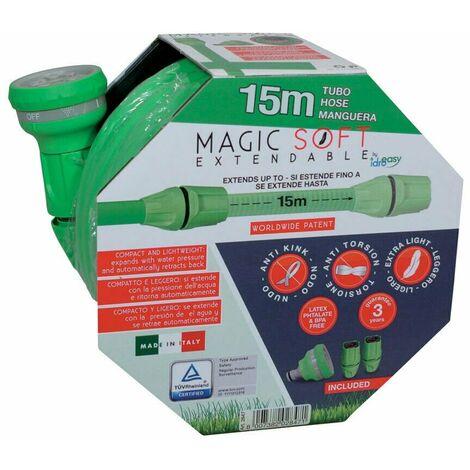 Gomma estensibile 15//30 metri tubo per innaffiare il giardino prato irrigazione salvaspazio magico anche in camper-estensibile da 5 a 15 metri
