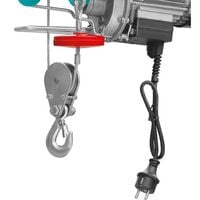Paranco Elettrico 900W 500Kg Montacarichi Sollevamento Argano TLH1952 Total
