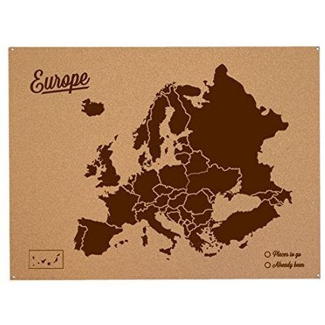 Cartina Mondo In Sughero.Miss Wood Woody Map L Cartina Del Mondo In Sughero Europa Colore Marrone