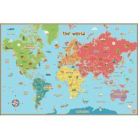 Lavello Potenza Cartina Geografica.Wallpops Cartina Geografica Del Mondo Per Bambini Autoadesiva