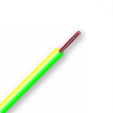 Cable electrico manguera H07V-K seccion 1x1.5 mm 10 M Verde-Amarillo