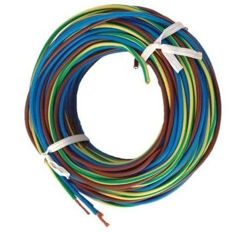 Cable electrico manguera H07V-K seccion 1x2.5 mm 5 M Multicolor
