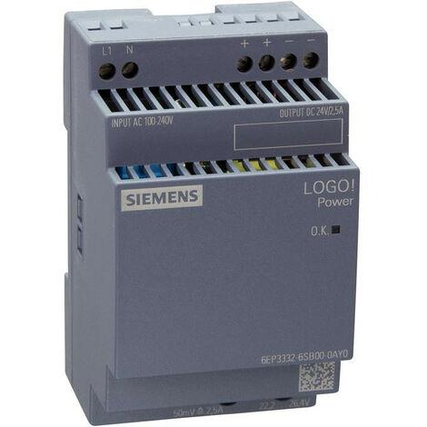 Fuente de alimentación estabilizada de Siemens LOGO! ALIMENTACIÓN 24V/2,5 A 6EP33326SB000AY0